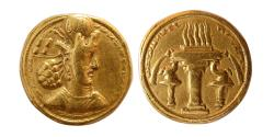 Ancient Coins - SASANIAN EMPIRE. Shahpur II. 309-379 AD. Gold Dinar. Mint IX.