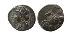 Ancient Coins - CORINTHIA, Corinth. Ca. 350-300 BC. AR Drachm. Lovely strike.