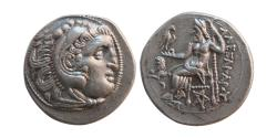 Ancient Coins - KINGS of THRACE. Lysimachos. 305-281 BC. AR Drachm. Lovely strike.
