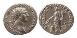 Ancient Coins - ROMAN EMPIRE. Trajan. AD. 98-117. Silver Denarius. Choice Superb.