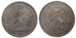 World Coins - UNITED STATES. 1877. Trade Dollar. Choice UNC.