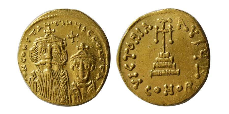 Ancient Coins - BYZANTINE EMPIRE. Constans II Pogonatus. 641-668. AV Solidus.