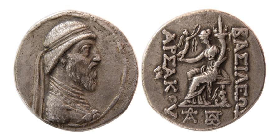 Ancient Coins - KINGS OF PARTHIA. Artabanos III. 126-122 BC. AR Tetradrachm. Rare.