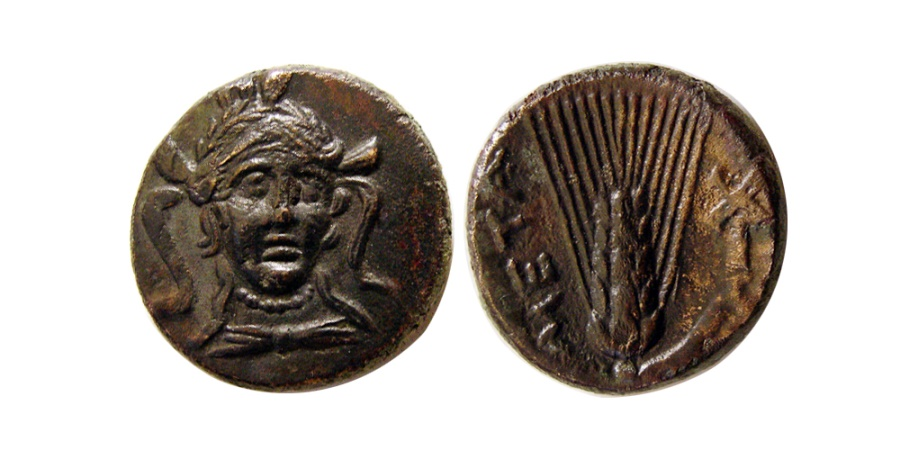 Ancient Coins - LUCANIA, Metapontion. Circa 300-250 BC. Æ .