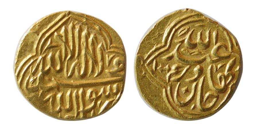 SHAYBANID Abd Llah II 1583 1598 AD Gold 1 12 Mohur Badakhshan