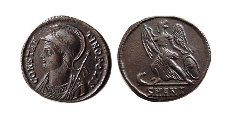 Ancient Coins - ROMAN EMPIRE. Constantin I. 330-354 AD. AE Follis. Antioch mint.