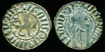 Ancient Coins - Armenia: Hetoum I, Silver Tram, King Hetoum & Queen Zabel, EF