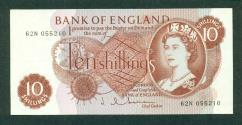 World Coins - GREAT BRITAIN 1961 Bank Of England Ten Shillings Banknote AU-UNC!
