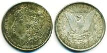 Us Coins - USA: 1900 MORGAN SILVER DOLLAR, HIGH GRADE GEM UNC. MS 63+, BEAUTIFUL TONING!