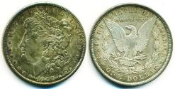 World Coins - USA: 1900 MORGAN SILVER DOLLAR, HIGH GRADE GEM UNC. MS 63+, BEAUTIFUL TONING!