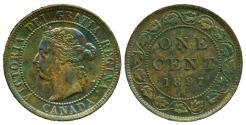 World Coins - CANADA: ERROR 1897 QUEEN VICTORIA LARGE CENT UNC!