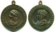 World Coins - UK GREAT BRITAIN: 1937 YOUNG CROWN PRINCESS ELIZABETH AE MEDAL SUPERB!