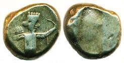 Ancient Coins - PERSIA, LYDIA: GREAT ACHAEMENID KINGS, DARIUS II - ARTAXERXES II, CIRCA 420 - 375 BC., SILVER SIGLOS, DAGGER AND BOW TYPE