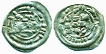 World Coins - Rassid: al-Nasir, Silver 1/6 dirham, Mint of Sa'da, barbarous Issue, EF