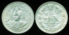 World Coins - IRAN, Qajar: Ahmad Shah, Silver 2000 dinar, AH 1332 (1913), AU-UNC!