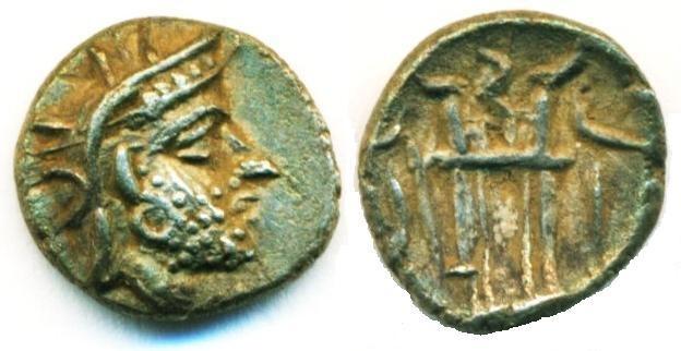 Ancient Coins - KINGDOM OF PERSIS: DAREV I (DARIUS I ) ; 2ND CENTURY BC; SILVER OBOL, BOLD STRIKE, EXTREMELY FINE