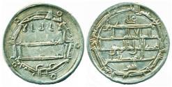 World Coins - ABBASID: Harun al-Rashid, Silver dirham, Mint of Ma'dan al-Shash, AH 190, Citing al-Mamun as second heir