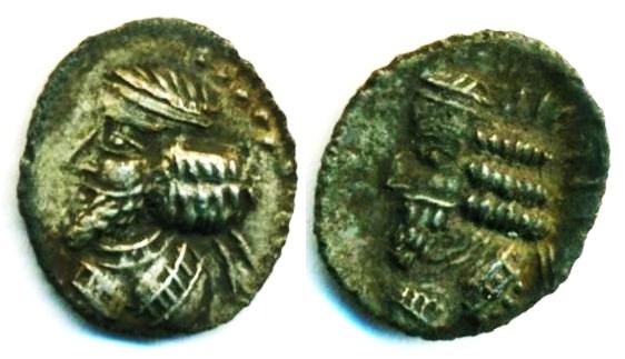Ancient Coins - KINGDOM OF PERSIS: PAKOR I ;CA. 1ST HALF OF FIRST CENTURY AD; SILVER OBOL, Superb EF