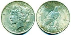 Us Coins - USA: 1923 Peace Silver Dollar, High Grade Gem UNC.