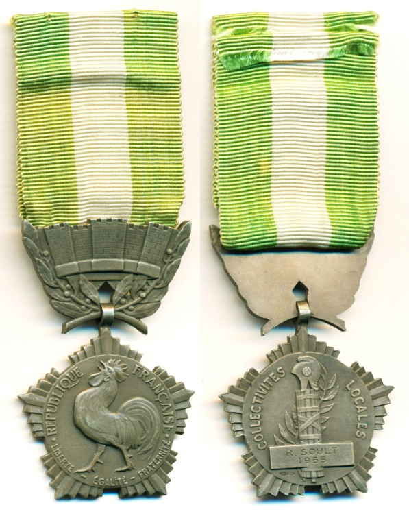 World Coins - France: 1955 Bronze Medal of Merit, Rooster