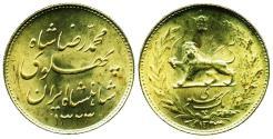 World Coins - IRAN: Gold one Pahlavi, SH 1323 (1944), during WW II, Legend type, SCARCE! B.U. ON SALE!