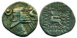 Ancient Coins - PARTHIA: PHRAATES IV; 38-2 B.C.; Silver Drachm, Mint of Ecbatana, eagle!
