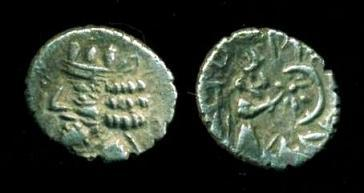 Ancient Coins - KINGDOM OF PERSIS: Nambed (Namopat) ; ca. first century AD; Silver Obol (0.56 g 9.5 mm), Alram-602, SCARCE!