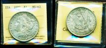 Us Coins - USA: 1889 Morgan Silver Dollar, Certified High Grade Gem UNC. by ICCS MS-62