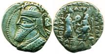 Ancient Coins - PARTHIAN EMPIRE: Vologases IV; c. A.D. 147-191; Silver Tetradrachm, Mint of Seleucia, Struck AD 152, Tyche, Nice!