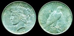 World Coins - USA: 1922D Peace Silver Dollar AUNC.!