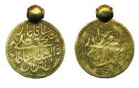 World Coins - PERSIA: 19 CENTURY QAJAR ERA JEWELRY IMITATION OF GOLD TOMAN PENDENT, RARE!
