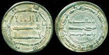 World Coins - ABBASID: al-Mansur, AR dirham, Mint of al-Muhammadiya, AH 149, Superb EF