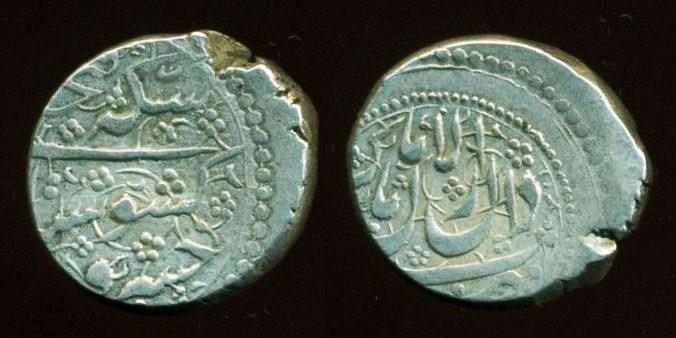World Coins - Persia, Qajar: FathAli shah, Silver Qiran, Keshvarsetan type, Perso-Russian Wars Issue, Mint of Kirman, RARE!