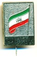 World Coins - Iranian National front Pinback Medal Flag of IRAN