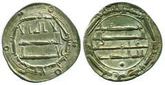World Coins - ABBASID: al-Mahdi, Silver dirham, Mint of Madinet al-Salam, AH 161, EF