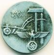 World Coins - THIRD REICH GERMANY: 1936 NAZI PINBACK MEDAL SWASTIKA EAGLE