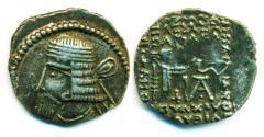 Ancient Coins - PARTHIA: VOLOGASES I, AD 51-78, AR Drachm, Mint of Ecbatana