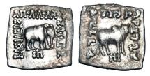 Ancient Coins - BAKTRIAN KINGDOM.  Apollodotos I, 160-150 BC.  AR Square Drachm.