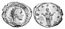 Ancient Coins - TREBONIANUS GALLUS, 251-253 AD.  AR Antoninianus.