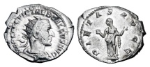 TREBONIANUS GALLUS, 251-253 AD.  AR Antoninianus.