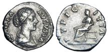 Ancient Coins - LUCILLA, wife of Verus, 161-169 AD.  AR Denarius.