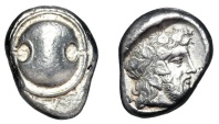Ancient Coins - BOEOTIA, Thebes.  425-395 BC.  AR Stater.