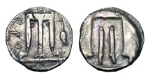 Ancient Coins - BRUTTIUM, Kroton.  480-430 BC.  AR Nomos