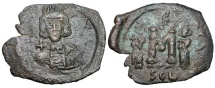 Ancient Coins - BYZANTINE EMPIRE.  Constantine IV, 668-685 AD.  Æ Follis of Syracuse.