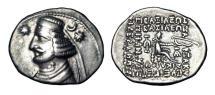 Ancient Coins - PARTHIAN KINGDOM.  Orodes II, 57-38 BC.  AR Drachm.