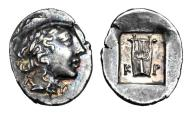Ancient Coins - LYCIA, Lycian League,   Kragos.  After 168 BC.  AR Hemidrachm.