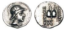 Ancient Coins - BAKTRIAN KINGDOM. Eukratides, 171-145 BC. AR Obol.
