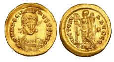 MARCIAN, 450-457 AD. Gold Solidus.