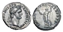 Ancient Coins - DOMITIAN, 81-96 AD.  AR Denarius, 95-96.