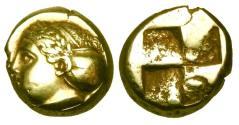 Ancient Coins - IONIA, Phokaia.  477-388 BC.  Electrum Hekte.
